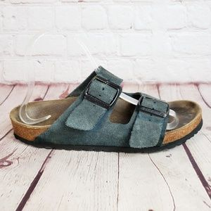 Birkenstock Arizona Suede Leather Slide Sandals